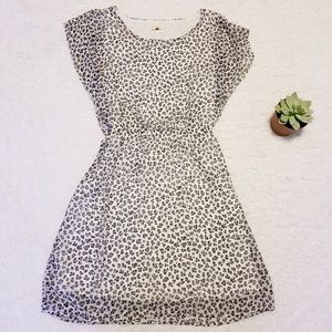 Needle & Thread Leopard Print Mini Chiffon Dress